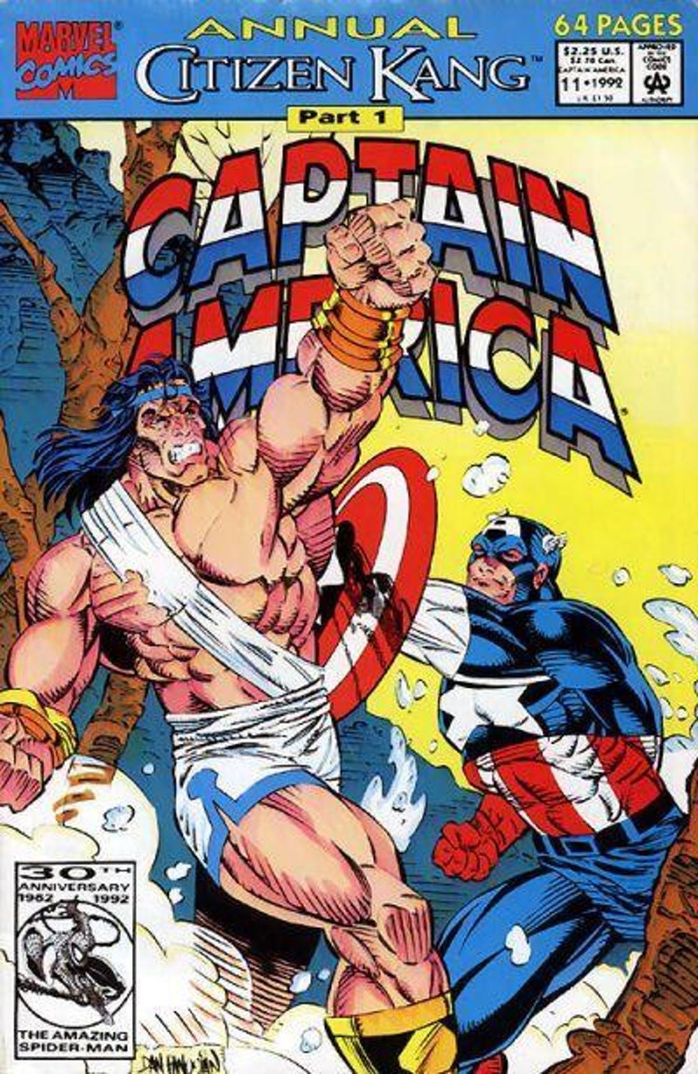 در شماره 11 «کامیک سالانهی کاپیتان آمریکا»، کاپیتان آمریکا به فضای باستانی اوروک منتقل شده است.