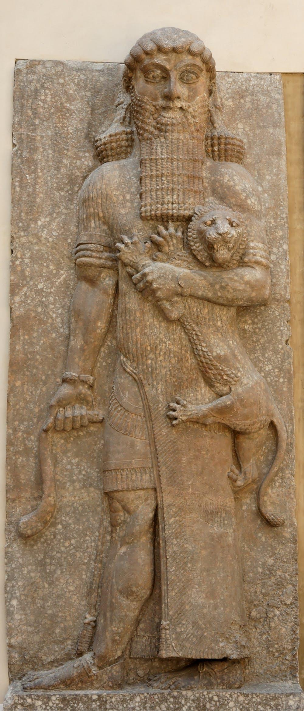 تصویر منسوب به گیلگمش، از 700 سال پیش از میلاد در عراق